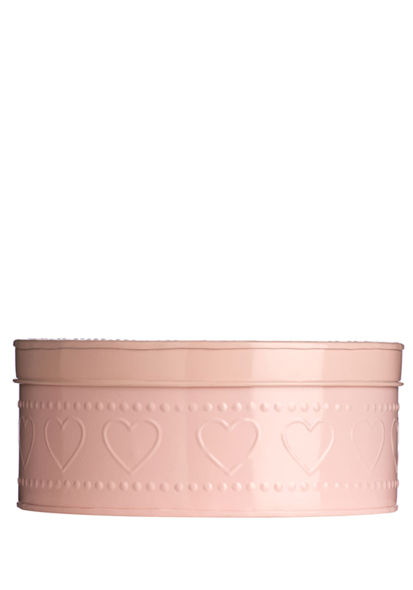 The Sweetheart Collection Dotty Heart Pink Storage Tin, 25x11cm