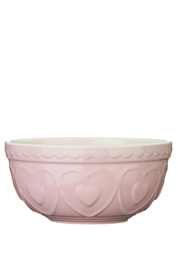 The Sweetheart Collection Pink Hearts Stoneware Mixing Bowl 2.5l
