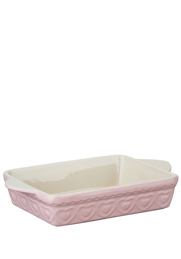 The Sweetheart Collection Pink Hearts Rectangle Baking Dish, 2l