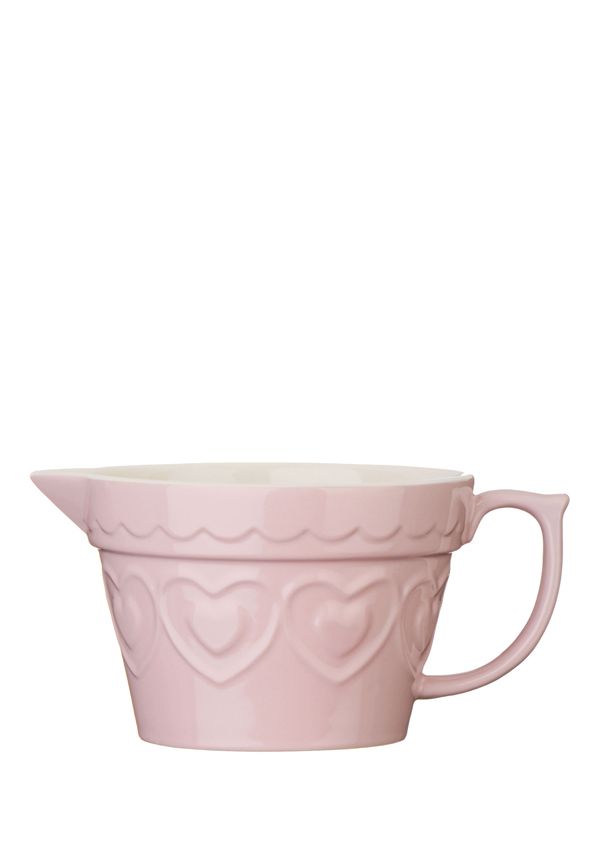 The Sweetheart Collection Pink Hearts Stoneware Jug, 1.7l