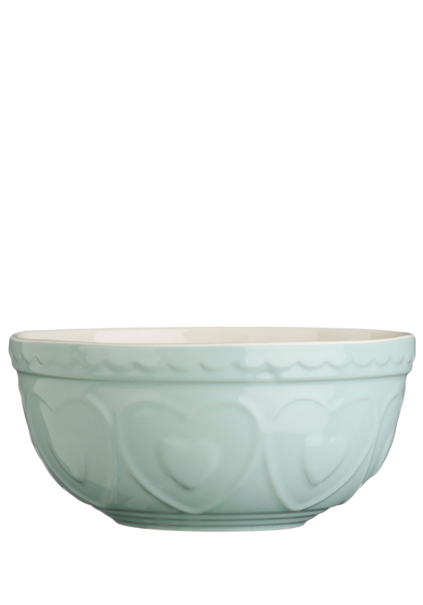 The Sweetheart Collection Green Hearts Stoneware Mixing Bowl 2.5l