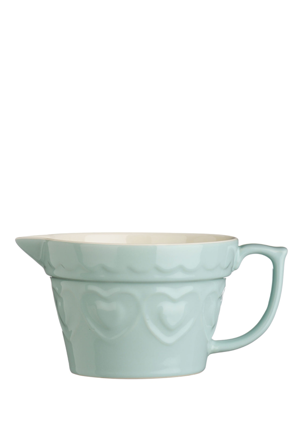 The Sweetheart Collection Green Hearts Stoneware Jug, 1.7l