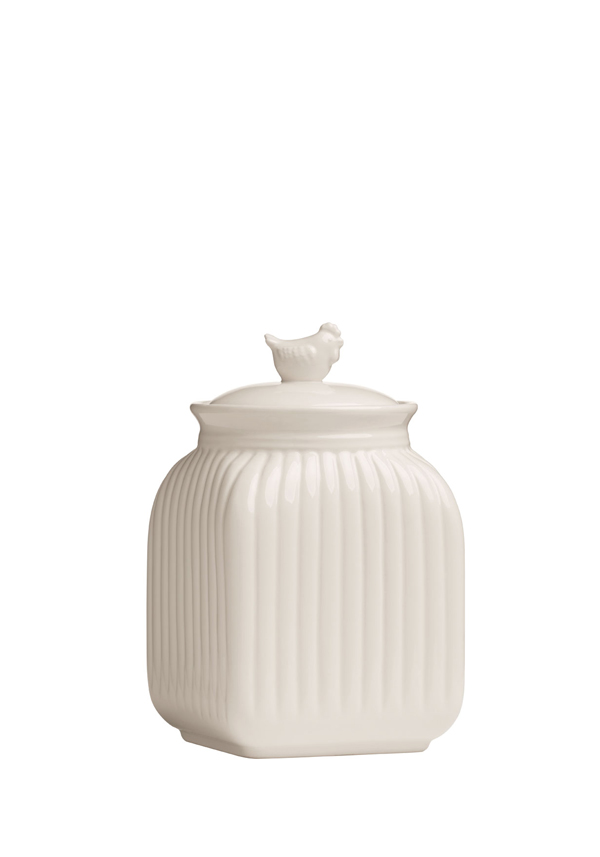 Mrs Henderson Storage Canister, Cream Dolomite, Small