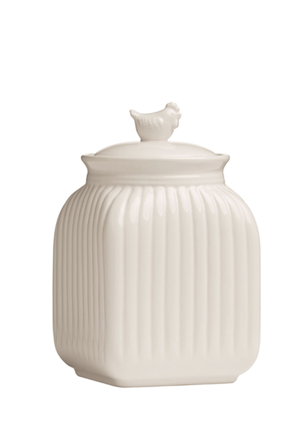 Mrs Henderson Storage Canister, Cream Dolomite, Medium