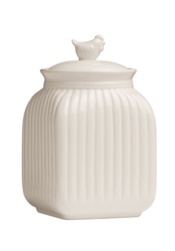 Mrs Henderson Storage Canister, Cream Dolomite, Large