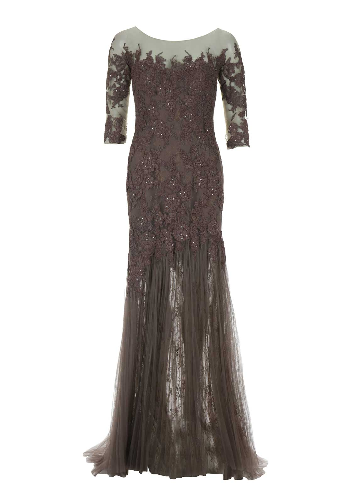 Pronovias Cocktail Basauri Dress, Aubergine
