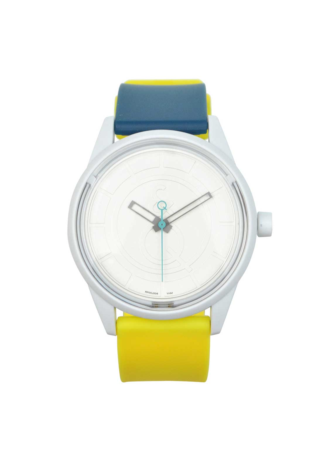 Q & Q Smile Solar Powered Unisex Watch, Green & Yellow