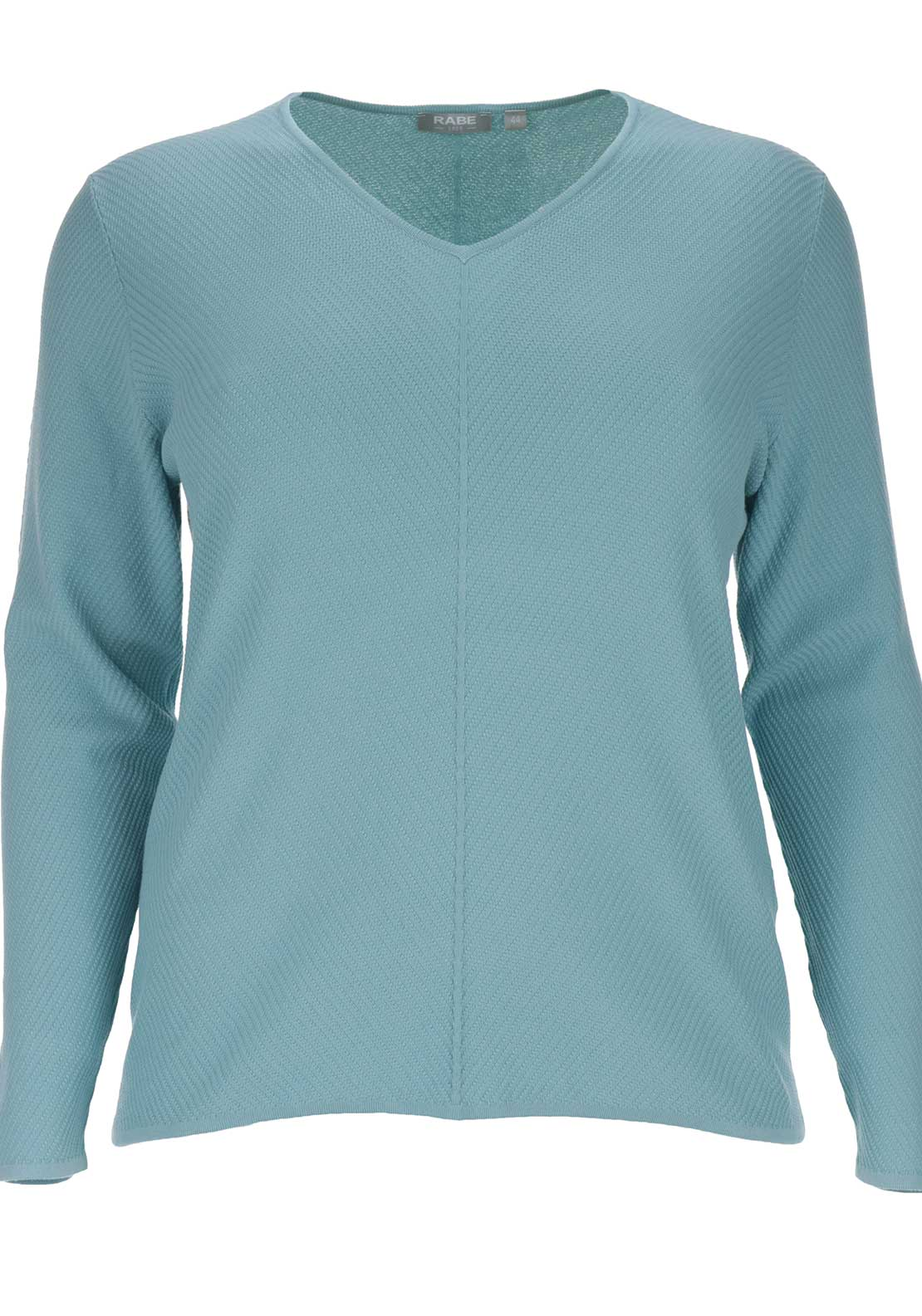 Rabe Textured V-Neck Sweater Jumper, Mint Green