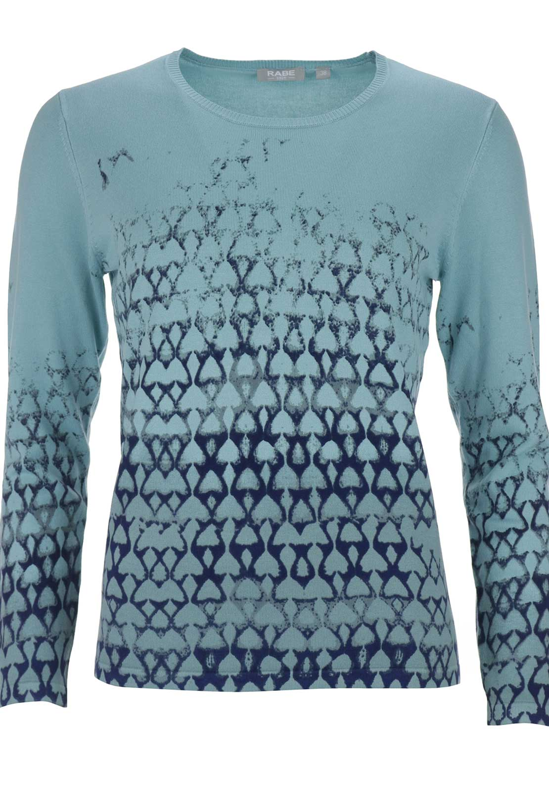 Rabe Printed Round Neck Sweater Jumper, Mint Green