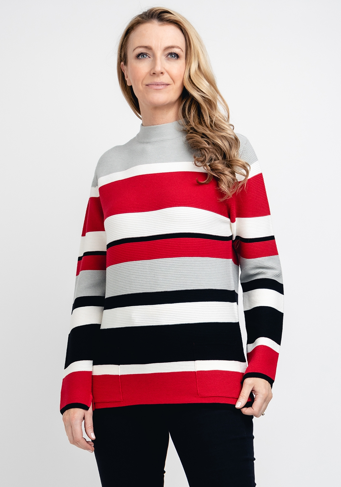 Rabe Colour Block Ribbed Jumper, Multi