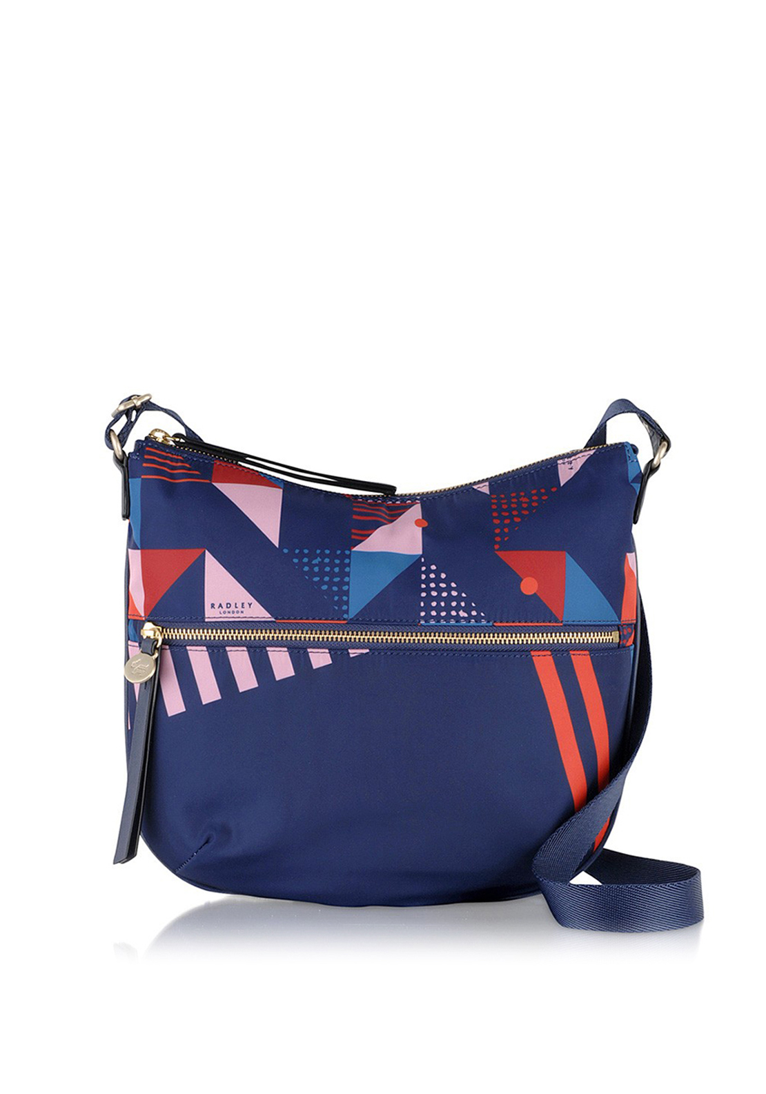 Radley Triangle Medium Zip-Top Cross Bag