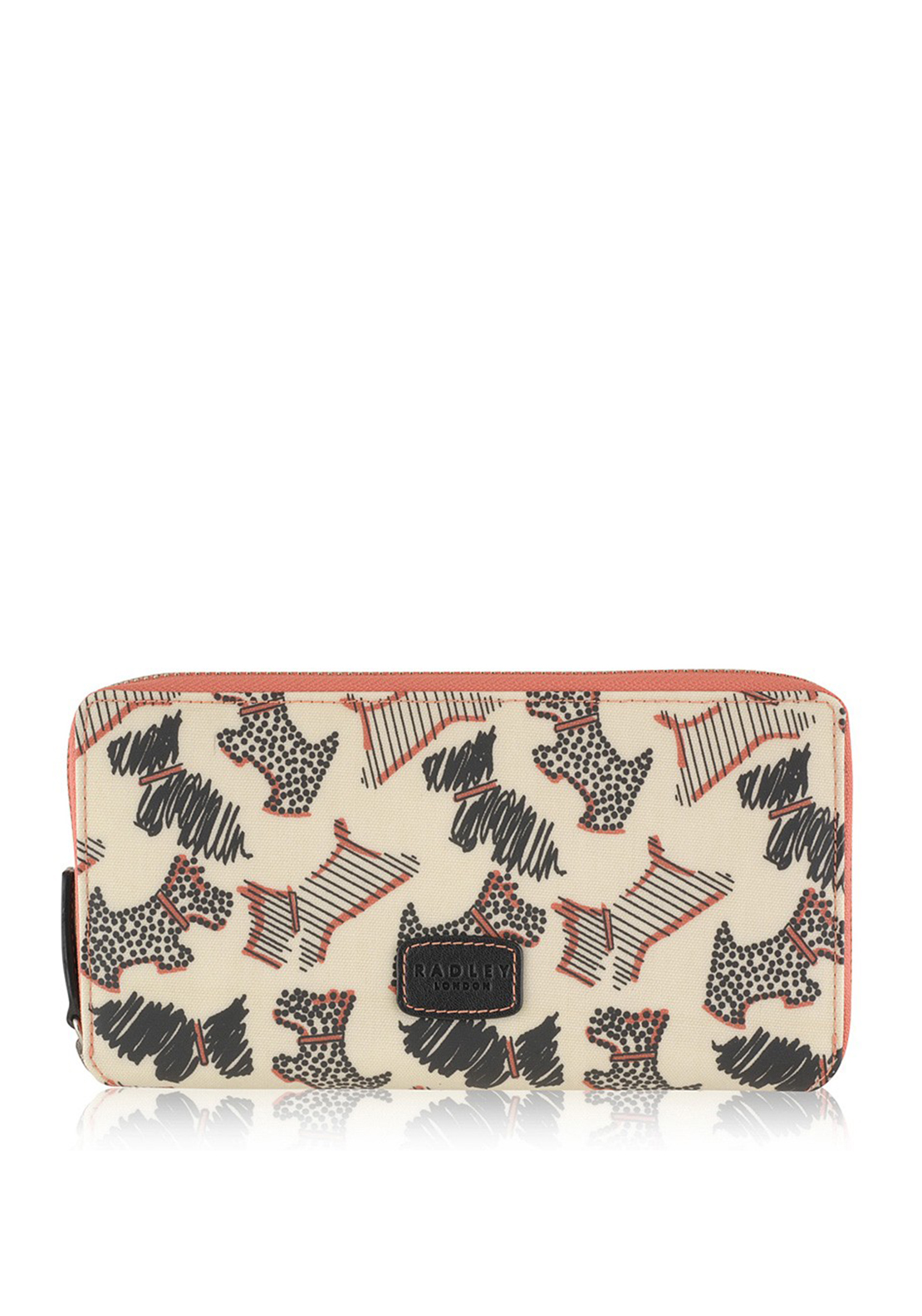 Radley Fleet Street Matinee Large Zip around Purse, Cream Multi