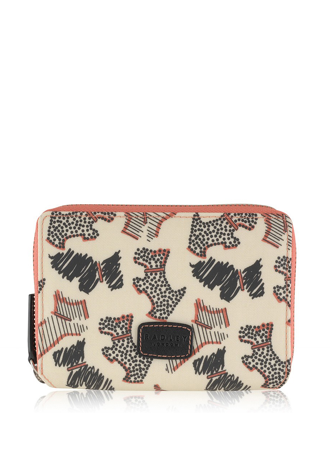 Radley Fleet Street Medium Zip Purse, Cream Multi