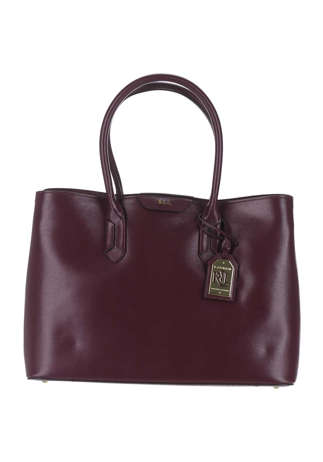 Lauren Ralph Lauren Leather City Tote Bag, Claret