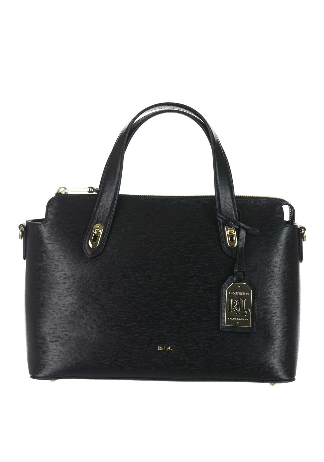 Lauren Ralph Lauren Leather Emily Satchel Bag, Black