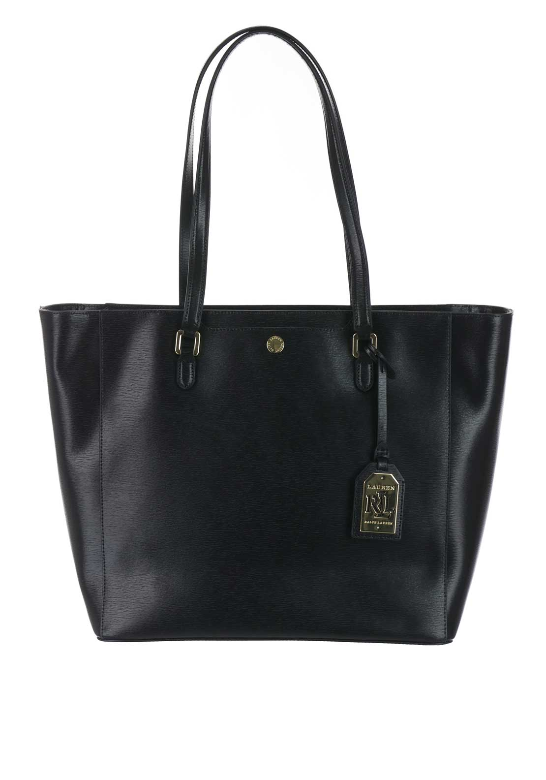 Lauren Ralph Lauren Leather Halee Tote Bag, Black