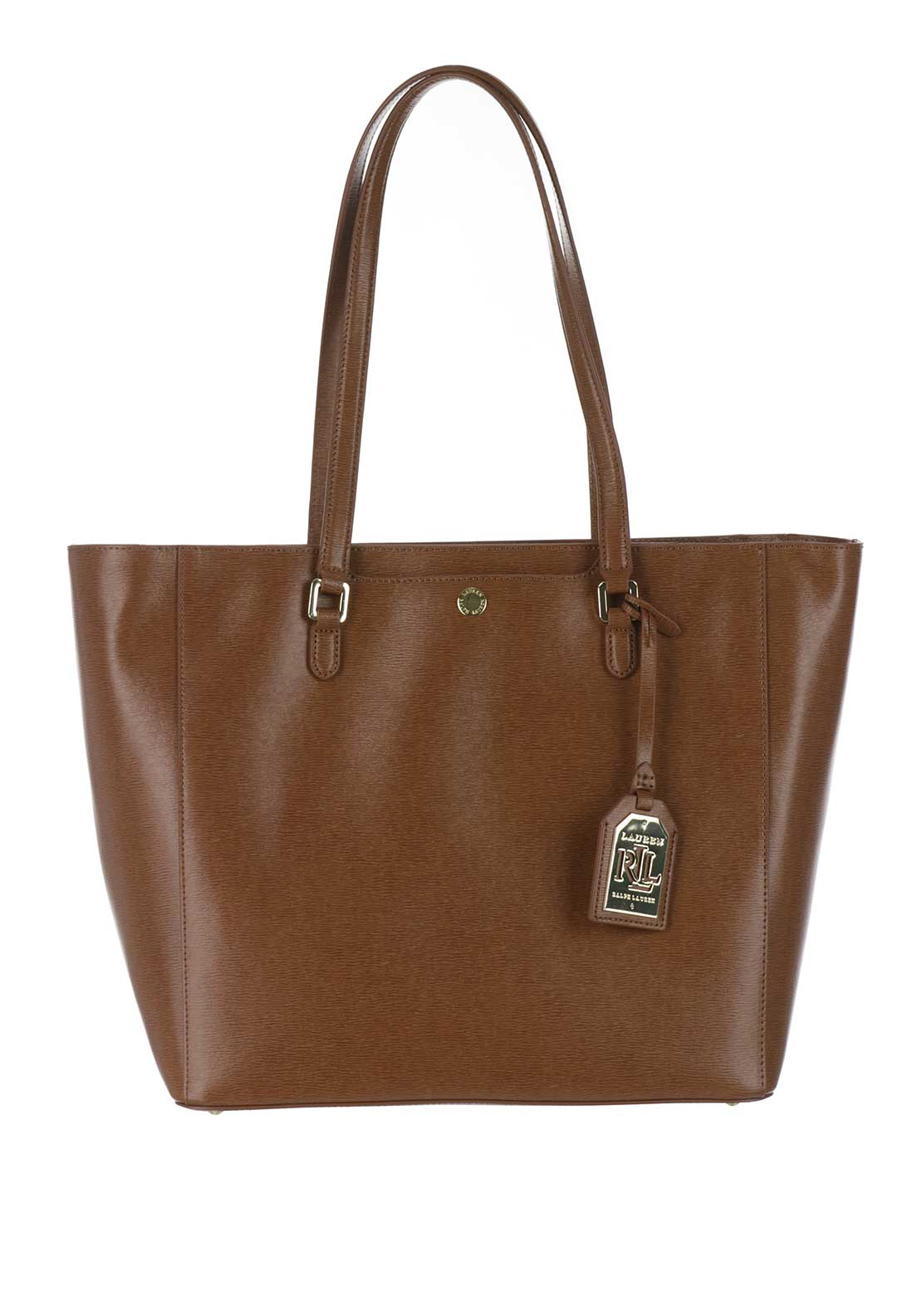 Lauren Ralph Lauren Leather Newbury Halee Tote Bag, Tan