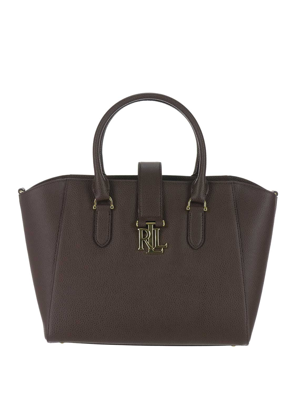 Lauren Ralph Lauren Bethany Leather Shopper, Burnished Brown
