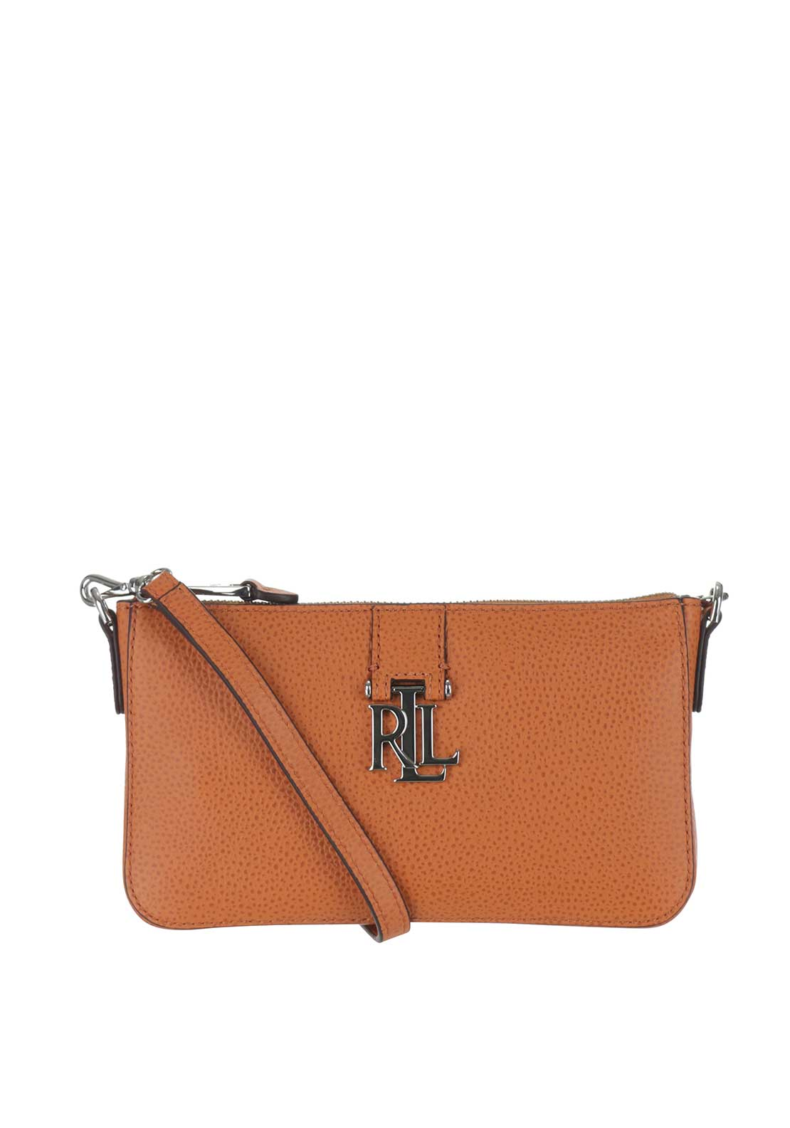 Lauren Ralph Lauren Leather Pam Shoulder Bag, Monarch Orange