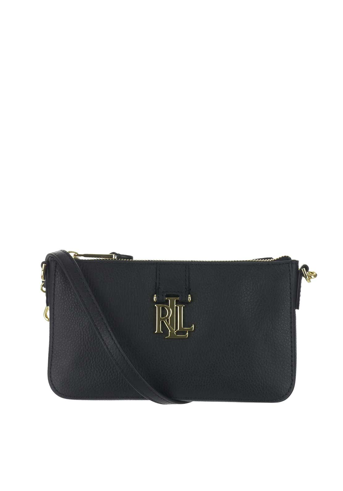 Lauren Ralph Lauren Leather Pam Shoulder Bag, Black