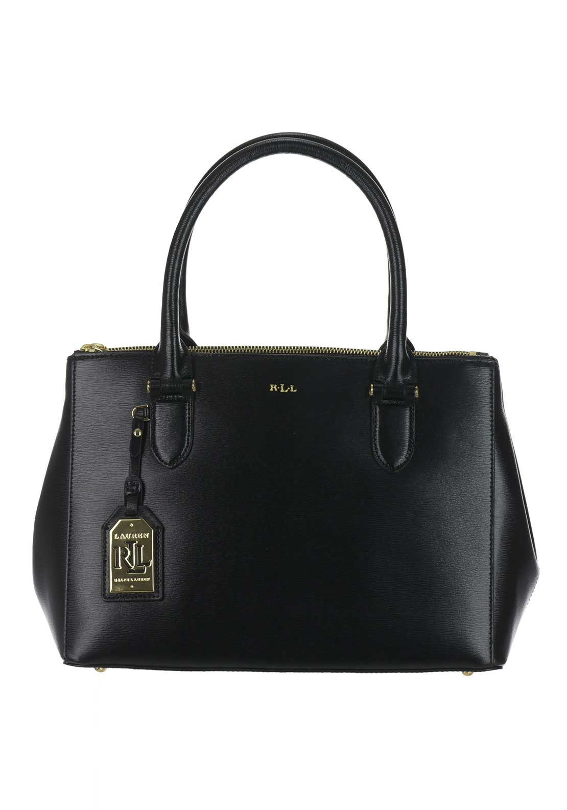 Ralph Lauren Newbury Leather Zip Tote Bag, Black