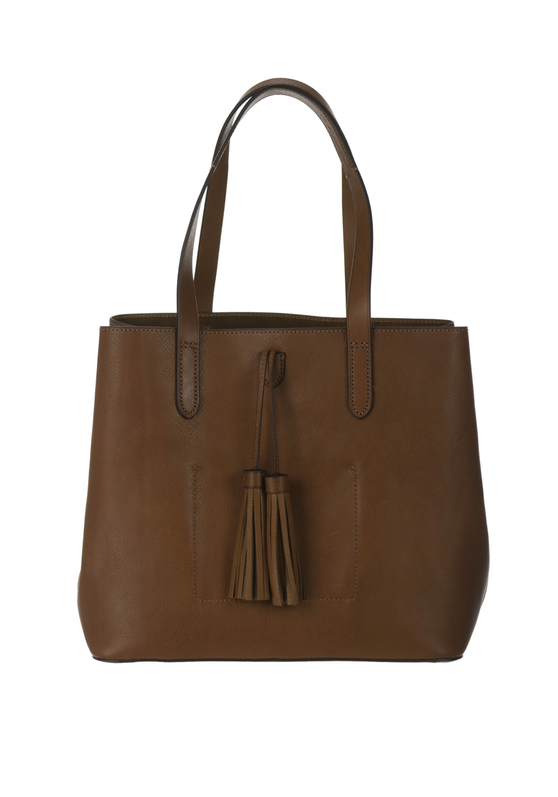 Ralph Lauren Polo Leather Tote Shopper Shoulder Bag, Tan