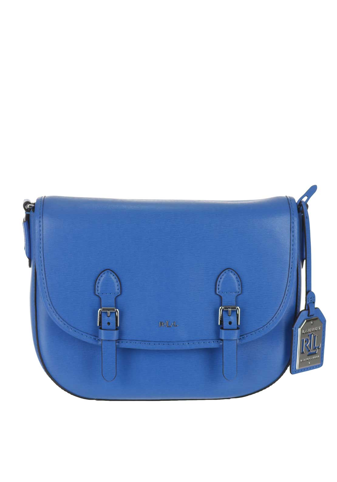Ralph Lauren Messenger Leather Crossbody Bag, Cyan Blue