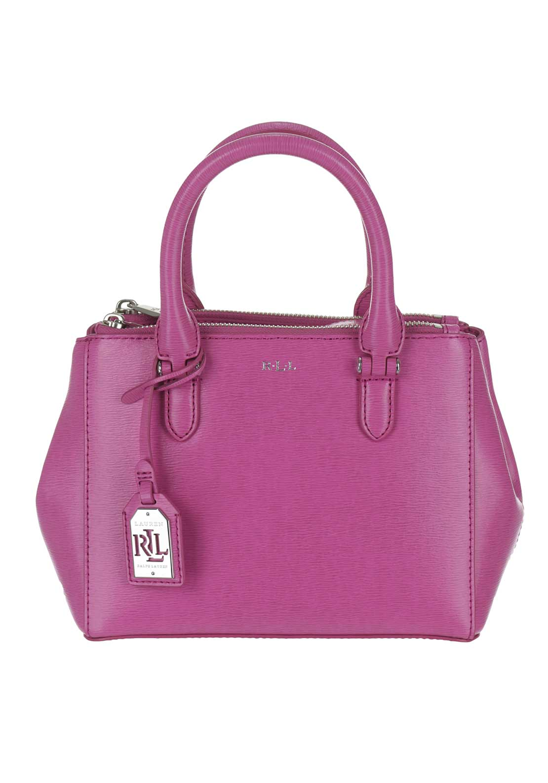 Ralph Lauren Newbury Leather Zip Mini Tote Bag, Pink