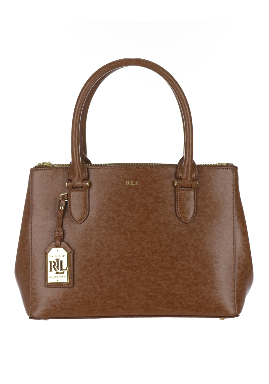 Ralph Lauren Newbury Leather Zip Tote Bag, Tan
