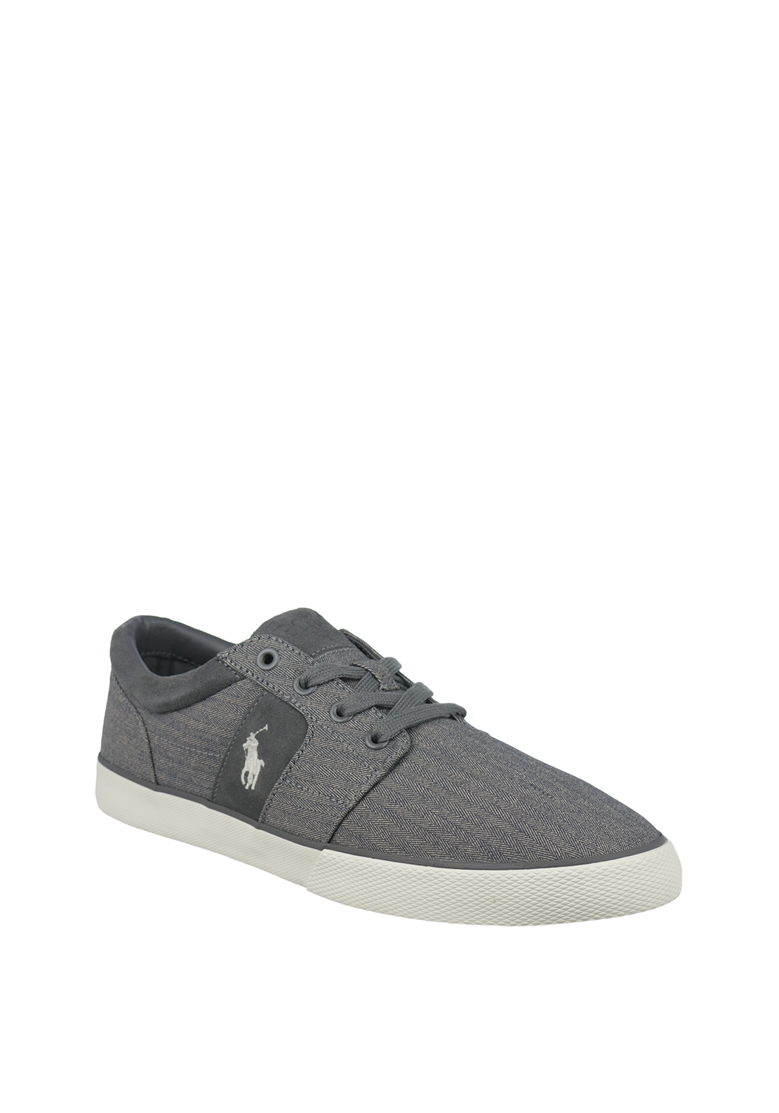 Ralph Lauren Polo Mens Halmore II Herringbone Trainers, Grey
