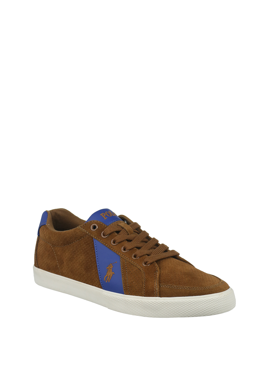 Ralph Lauren Polo Mens Hugh Suede Trainers, Brown