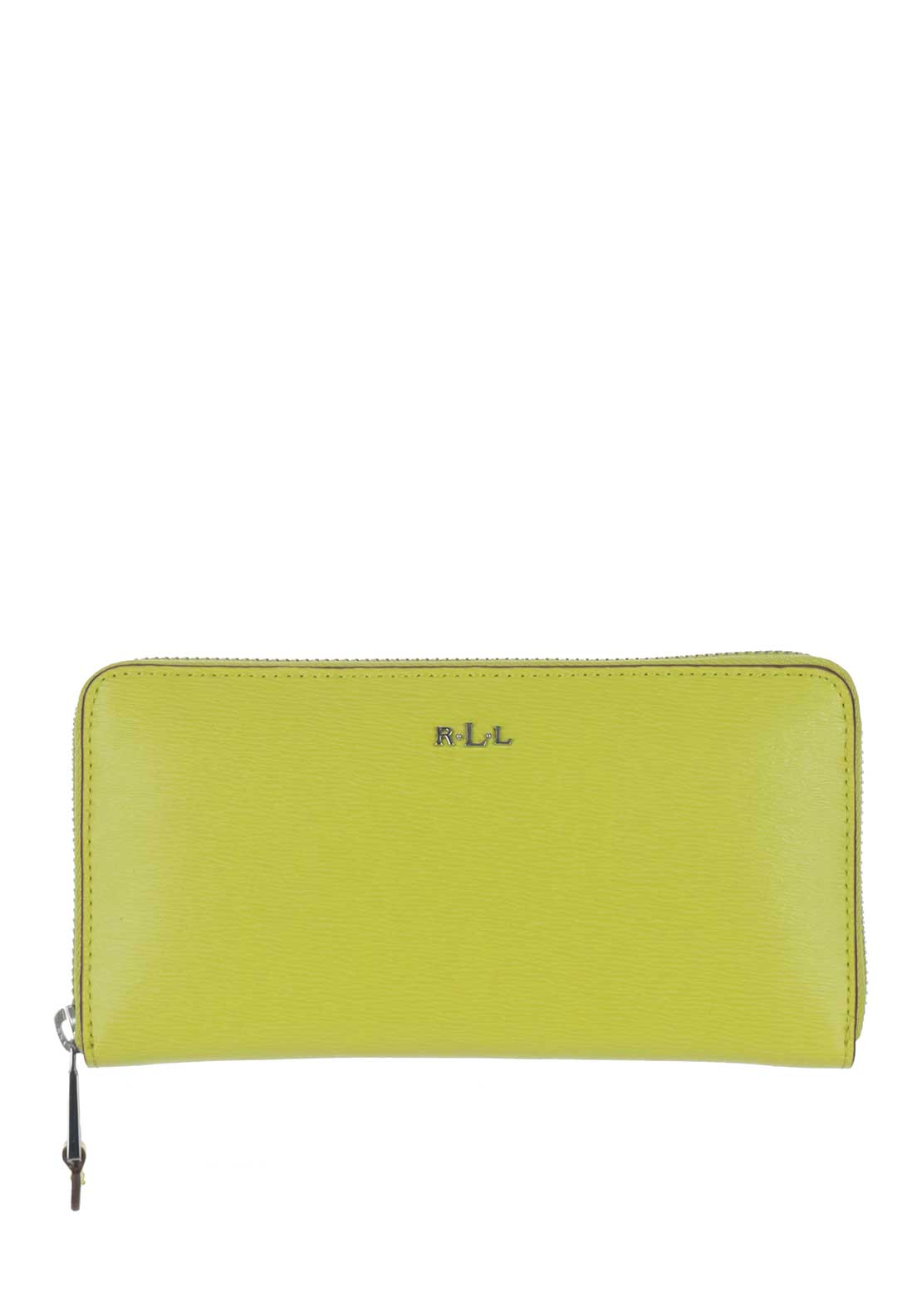 Ralph Lauren Zip Around Large Purse, Citron Lime Green