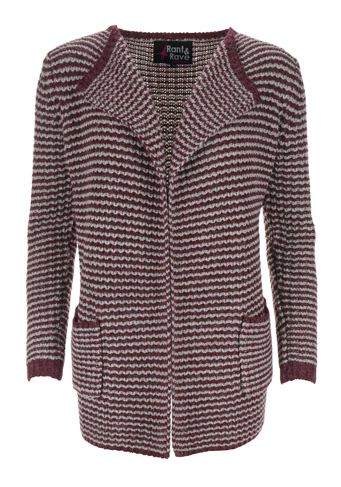 Rant & Rave Thea Two Tone Cardigan, Red