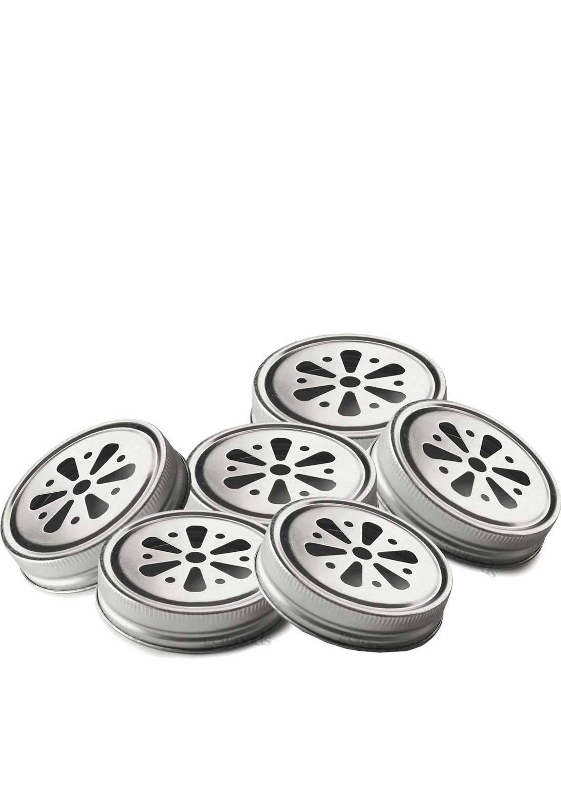 Kilner Set of 6 Flower Lids, Silver