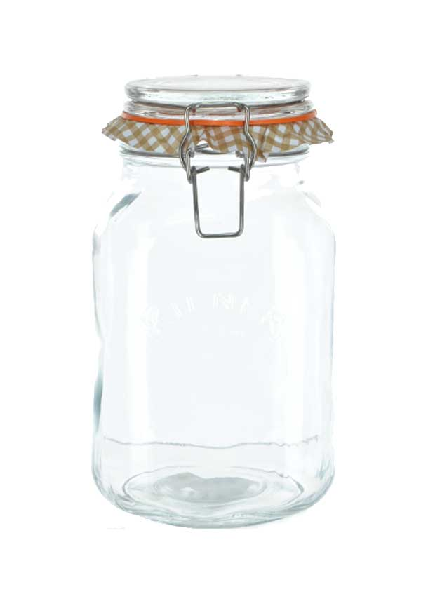 Kilner Square 2ltr Clip Top Glass Storage Jar