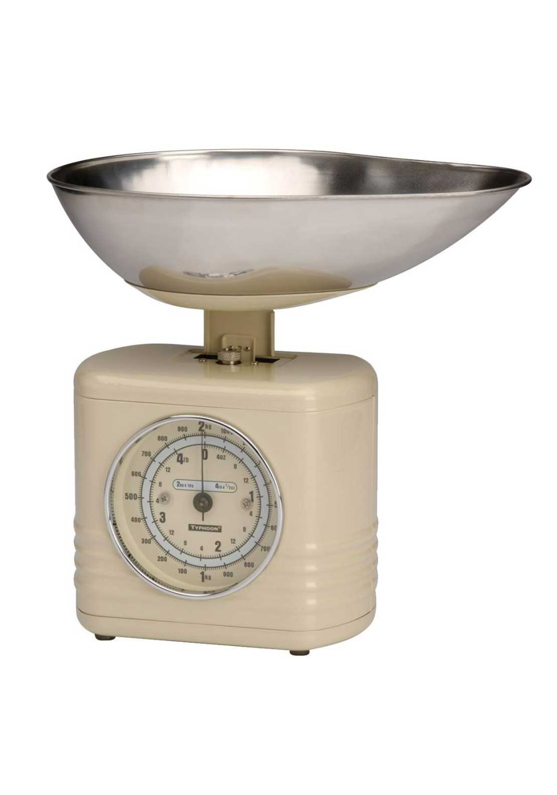 Typhoon 2kg Vintage Kitchen Scales, Cream