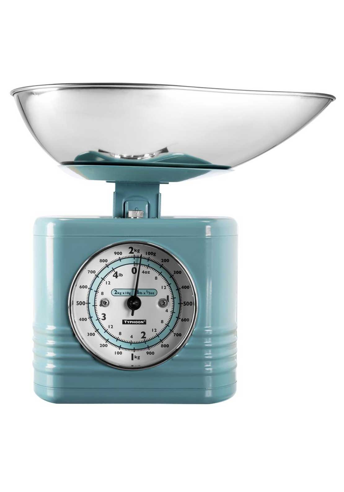 Typhoon 2kg Vintage Kitchen Scales, Blue