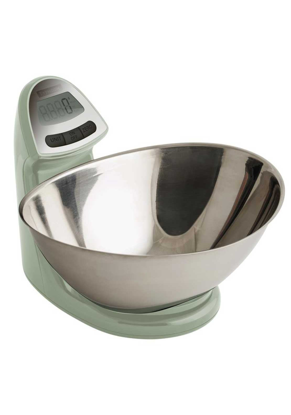 Typhoon 5kg Vision Electronic Kitchen Scales, Mint Green