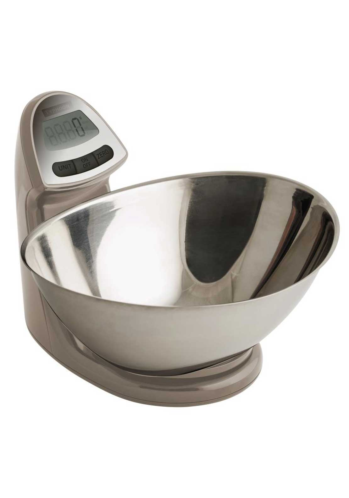 Typhoon 5kg Vision Electronic Kitchen Scales, Clay