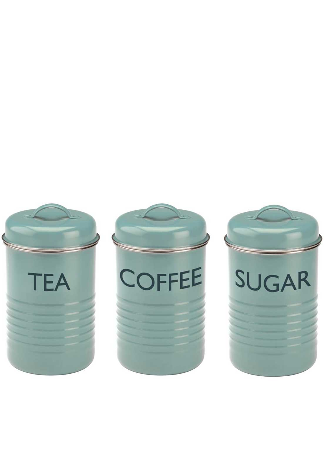 Typhoon Vintage Kitchen Set of 3 Storage Jars, Blue