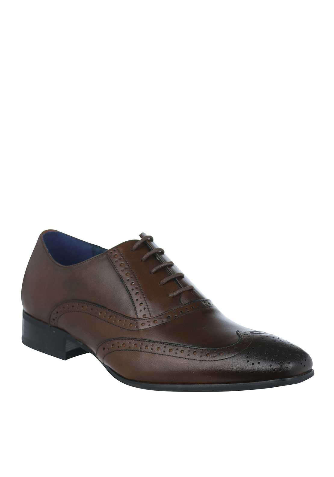 Remus Uomo Mens Franco Smart Leather Brogue, Brown