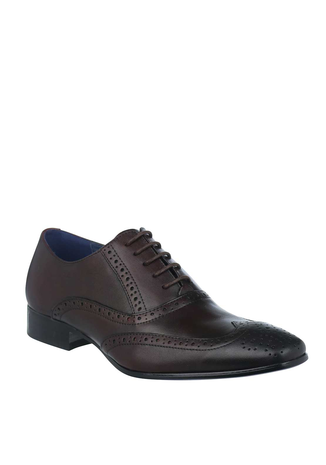 Remus Uomo Mens Franco Smart Leather Brogue, Burgundy