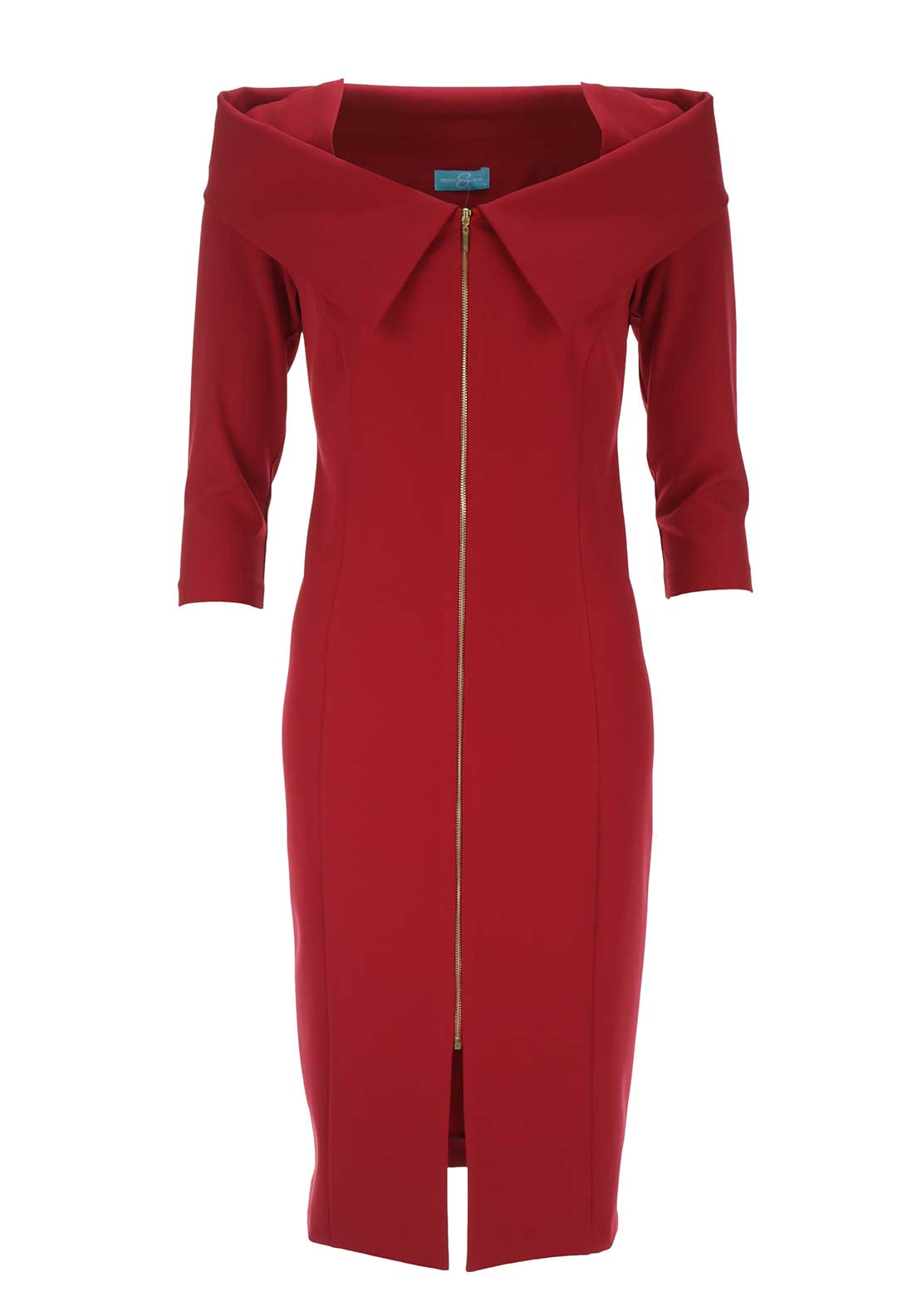 Ribbons & Bows Favi Bodycon Dress, Red