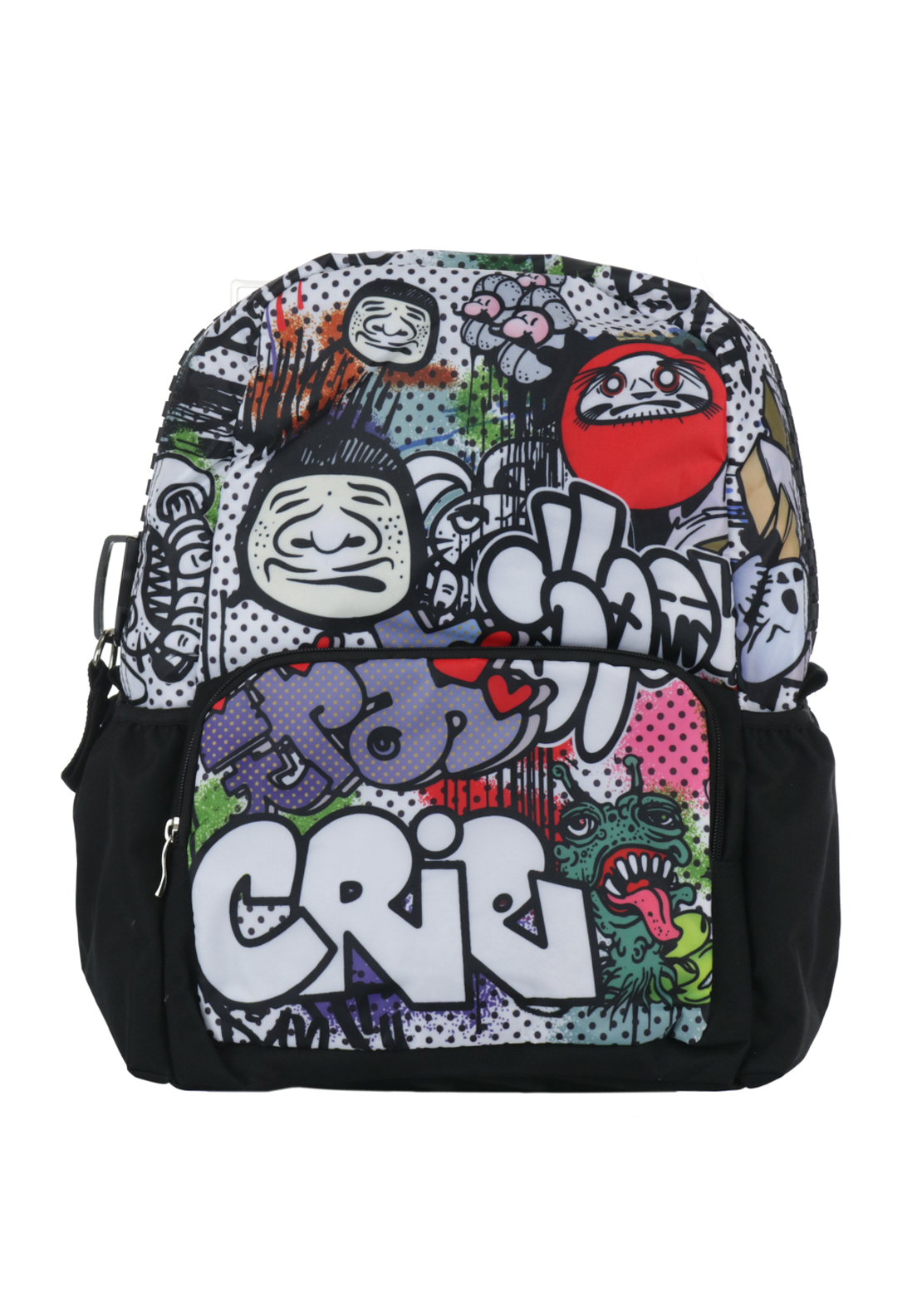 Ridge 53 Graffiti Backpack Schoolbag, Black