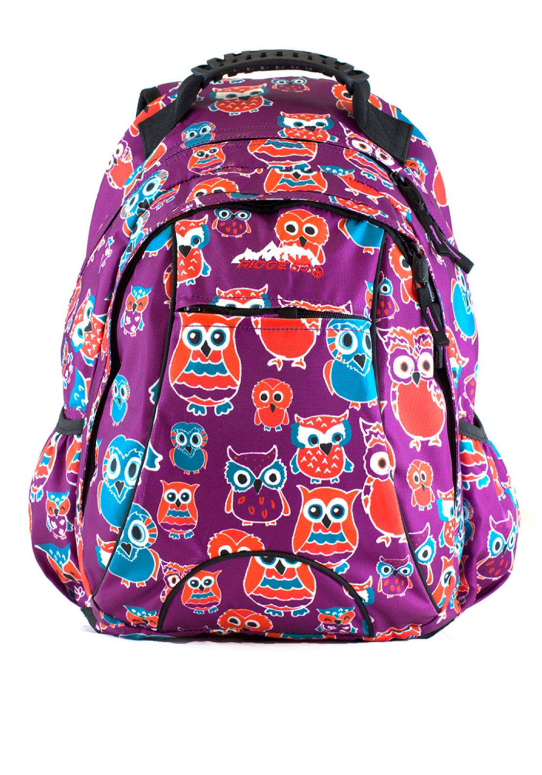 Ridge 53 Salem Owl Backpack Schoolbag, Purple