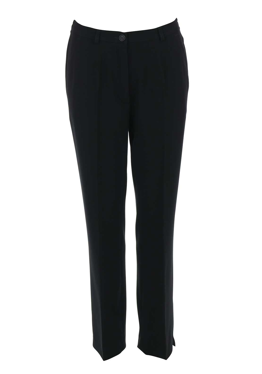Robell Pia Comfort Fit Straight Leg Trousers, Black