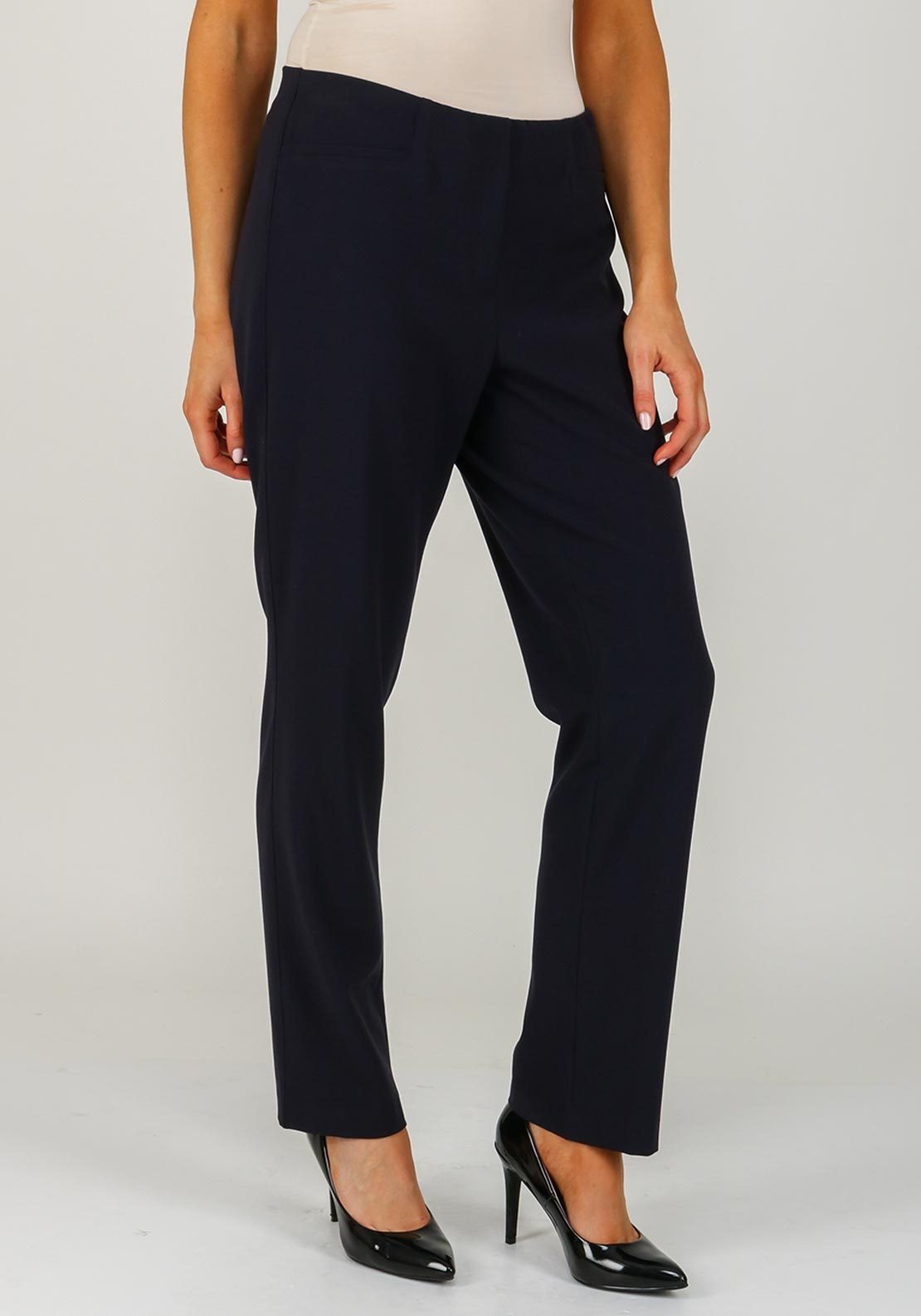 Robell Jacklyn Slim Fit Trousers, Navy