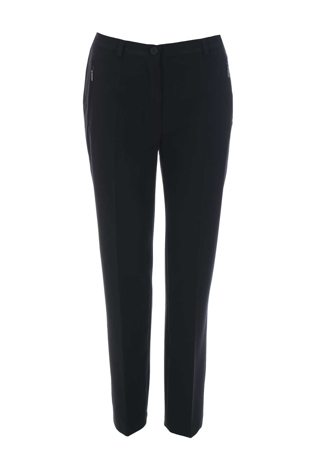Robell Sahra Comfort Fit Straight Leg Trousers, Navy