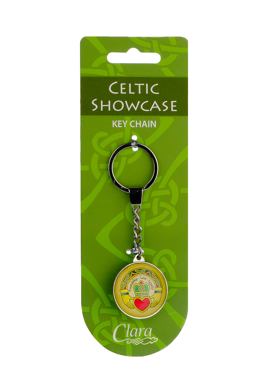 Royal Tara Clara Celtic Showcase Claddagh Key Chain, Silver