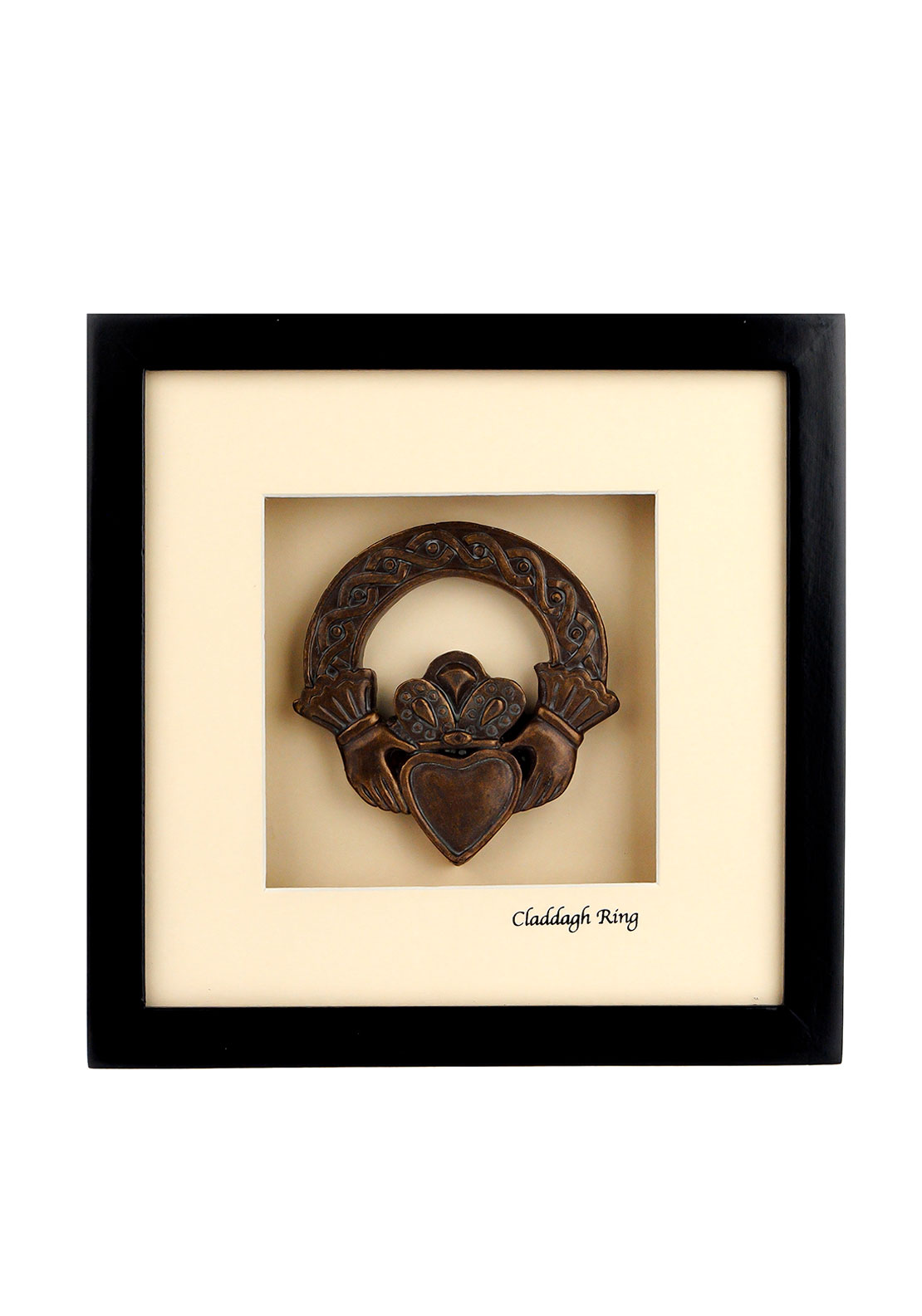 Celtic Shadows The Shadow Box Collection Claddagh Ring Picture, Cream